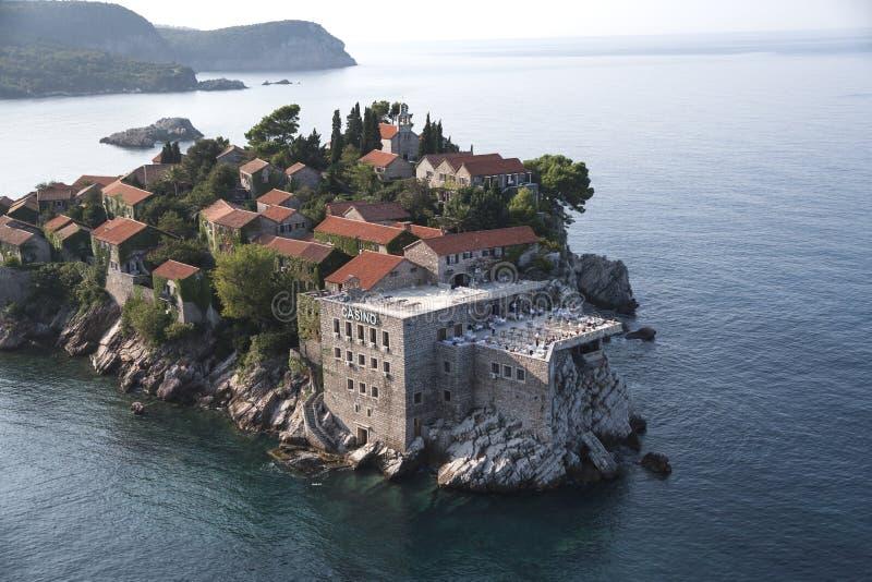 Sveti Stefan. Island resort, Montenegro stock image