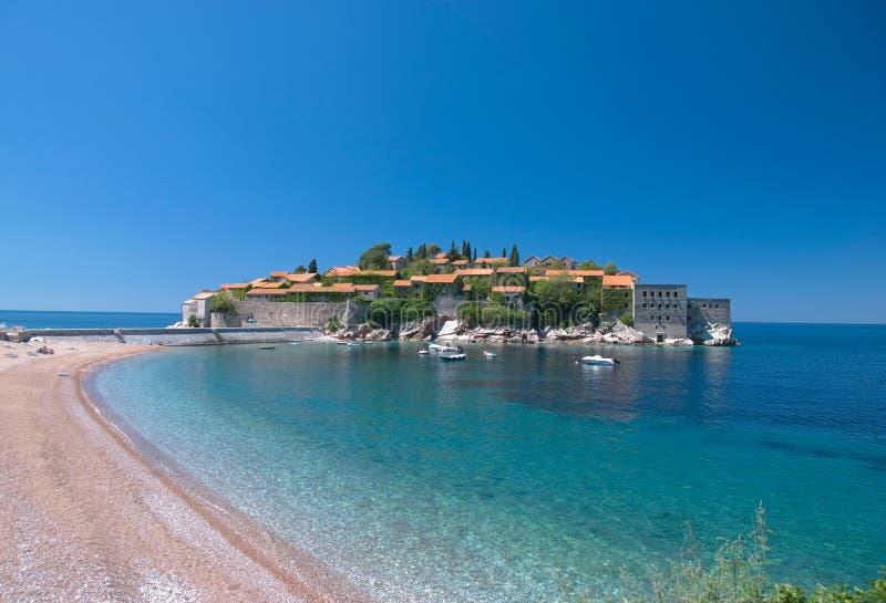 Sveti Stefan, Montenegro foto de stock