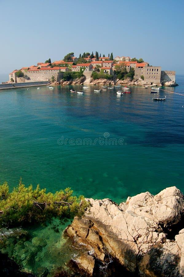 Download Sveti Stefan, Montenegro stock photo. Image of coast - 15555440