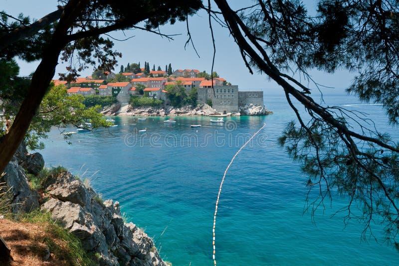 Download Sveti Stefan. Montenegro. stock image. Image of balkans - 24207387
