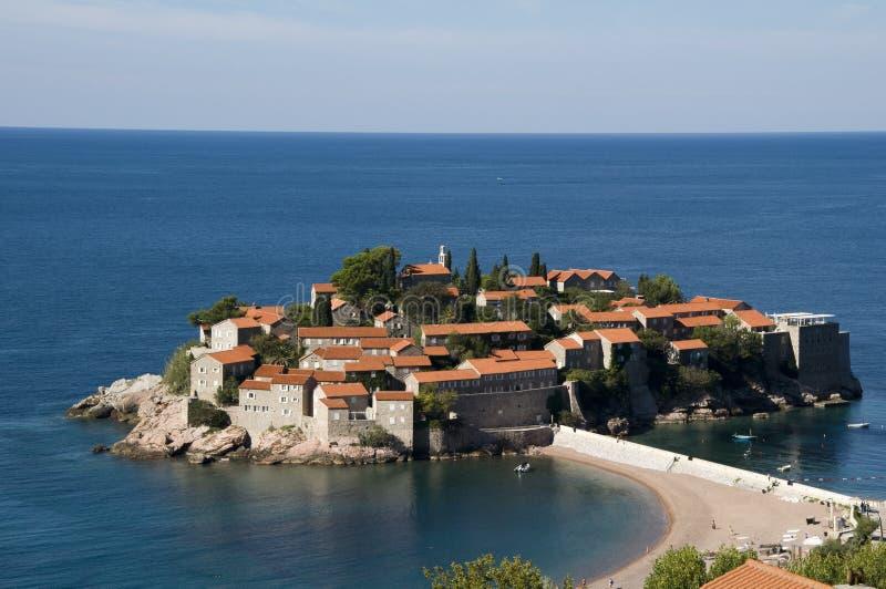 Sveti Stefan, Montenegro imágenes de archivo libres de regalías