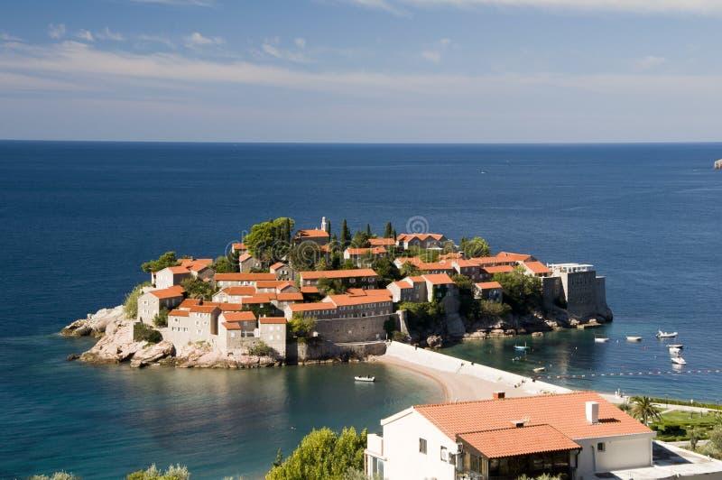 Sveti Stefan, Montenegro fotografía de archivo