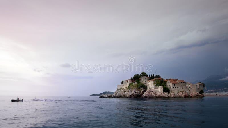 Sveti Stefan, Montenegro stock afbeeldingen