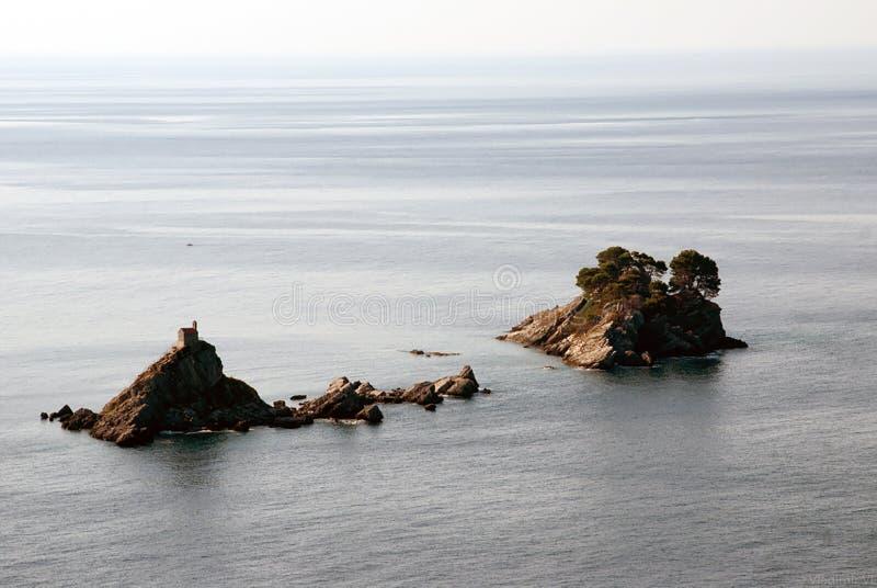 Sveti Stefan, Montenegro, fotografia w kolorze fotografia stock