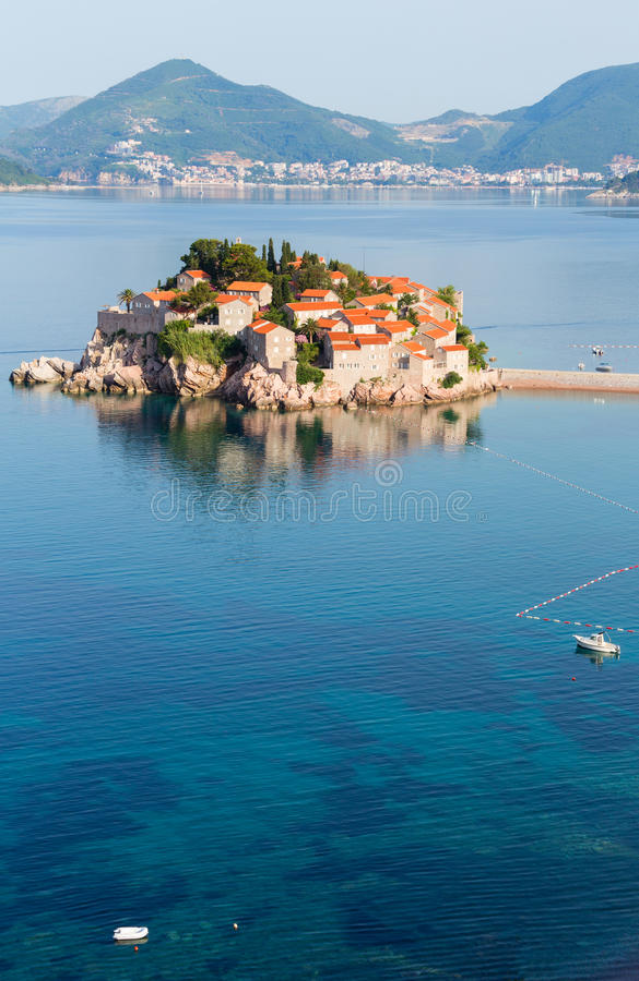 Sveti Stefan sea islet (Montenegro). royalty free stock photography
