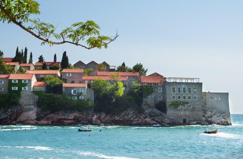 Sveti Stefan wyspa w Adriatyckim morzu Montenegro, Europa obraz stock