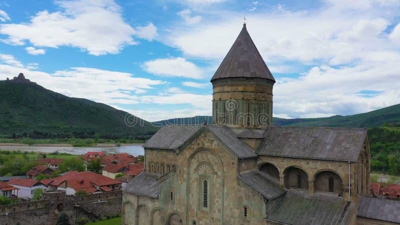 Svetitskhoveli大教堂是一个东正教大教堂在乔治亚 库存图片