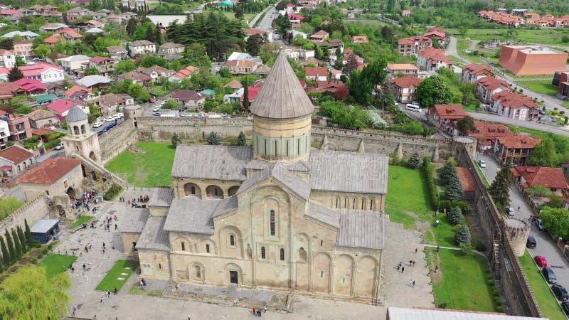 Svetitskhoveli -格鲁吉亚东正教的家长式大教堂教会 免版税图库摄影