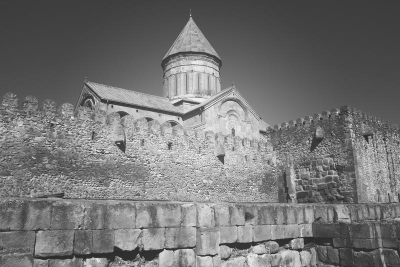 Svetitskhoveli Cathedral is a Georgian Orthodox stock photos