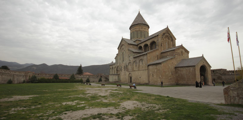 Svetitskhoveli katedra w Mtskheta zdjęcia stock