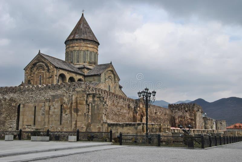 Svetitskhoveli Kathedrale lizenzfreie stockfotos