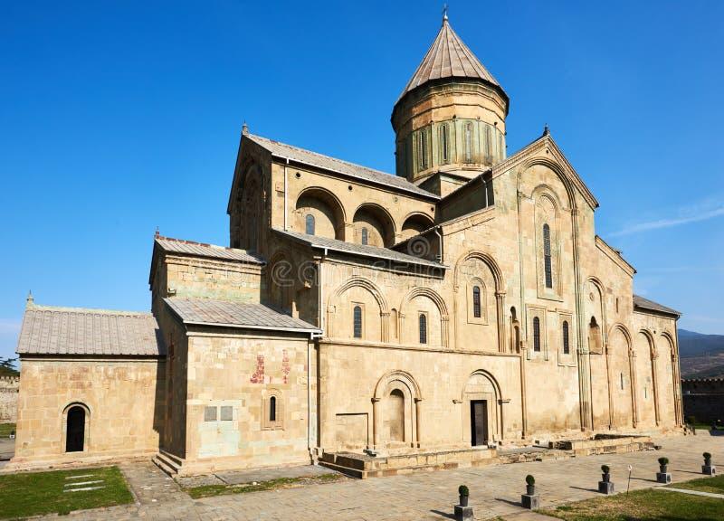 Svetitskhoveli kristen ortodox domkyrkakyrka i Mtskheta, Georgia arkivbild