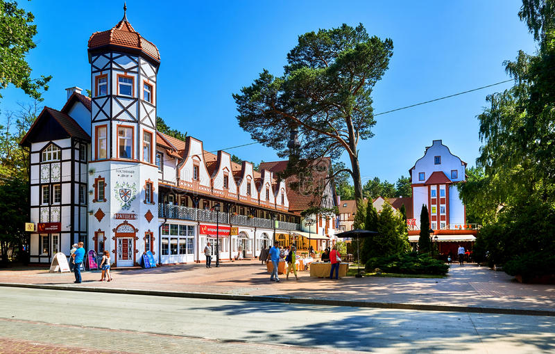 Svetlogorsk-Stadt Russland stockfotos