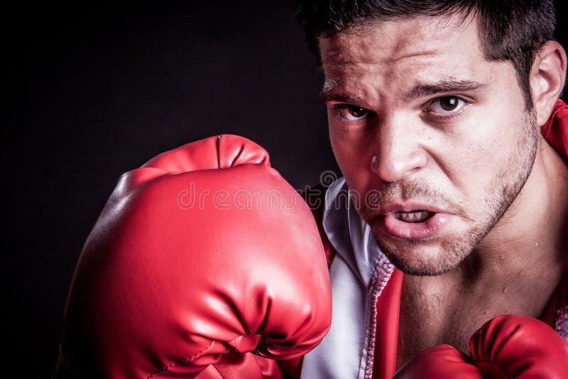 Svettas för boxningman royaltyfri fotografi