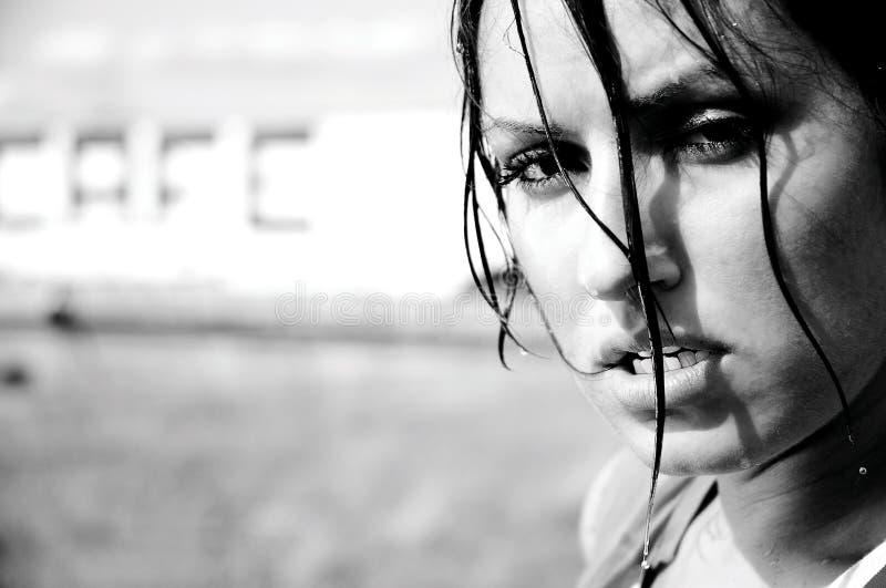svettasgenomkörare för flicka arkivfoto