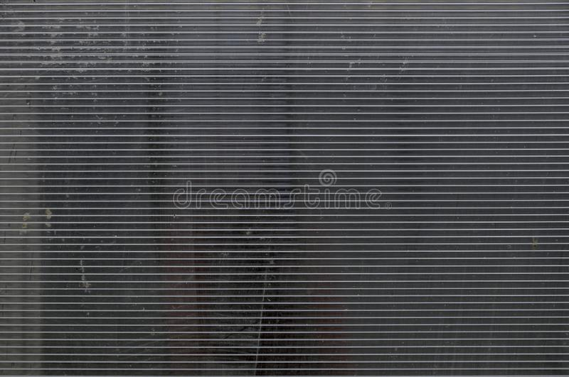 Svettig vit genomskinlig cell- Polycarbonate i växthuset Makro close upp Textur bakgrundsserie royaltyfri fotografi