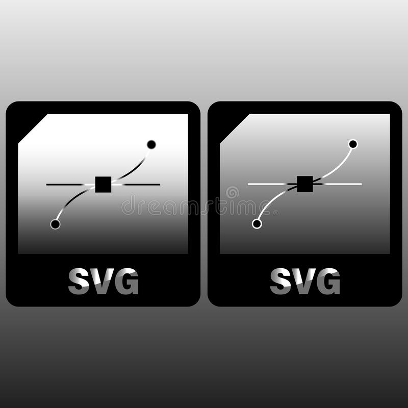 SVG file document icon. Download svg button icon isolated on gray background. SVG file symbol. Vector Illustration. For design royalty free illustration