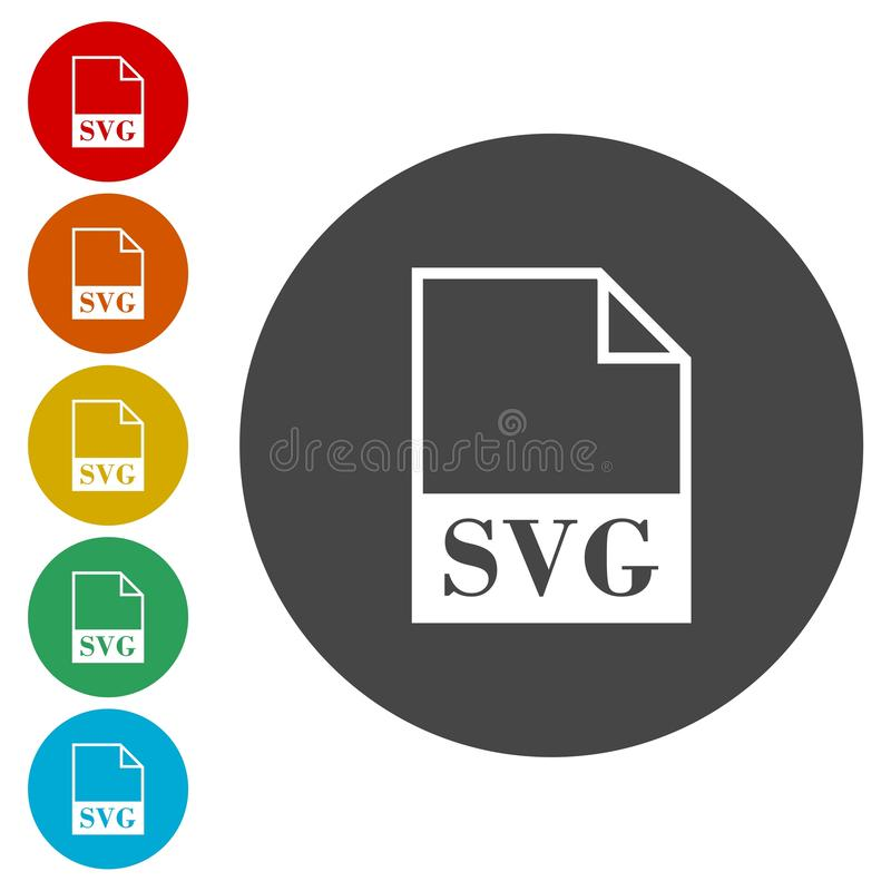 SVG file icons set. Vector icon vector illustration