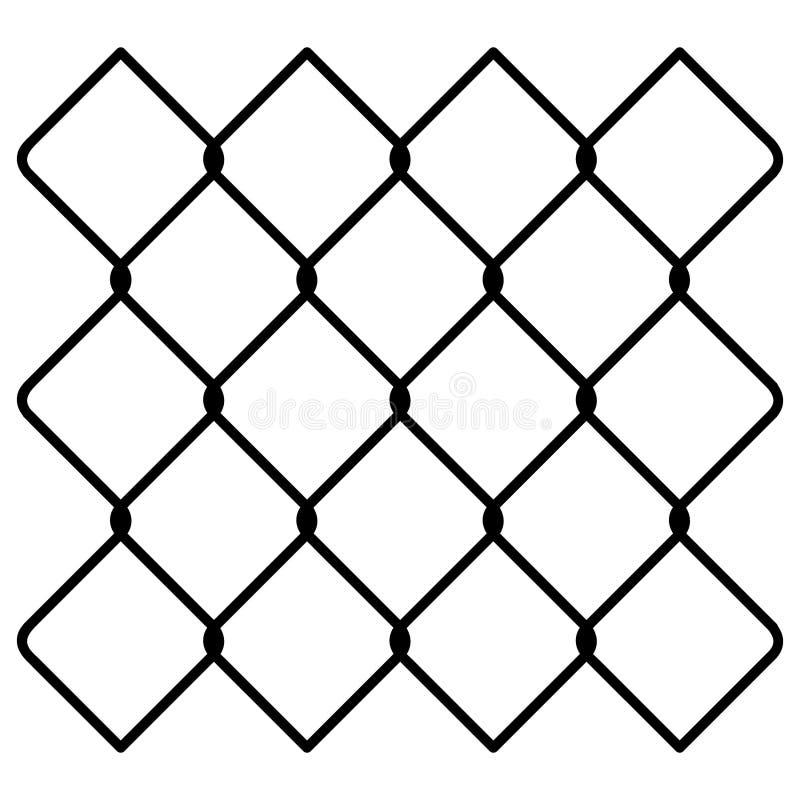 Svg tiré par la main de Crafteroks de barrière de maillon de chaîne libre, dossier libre de svg, ENV, dxf, vecteur, logo, silhoue illustration de vecteur