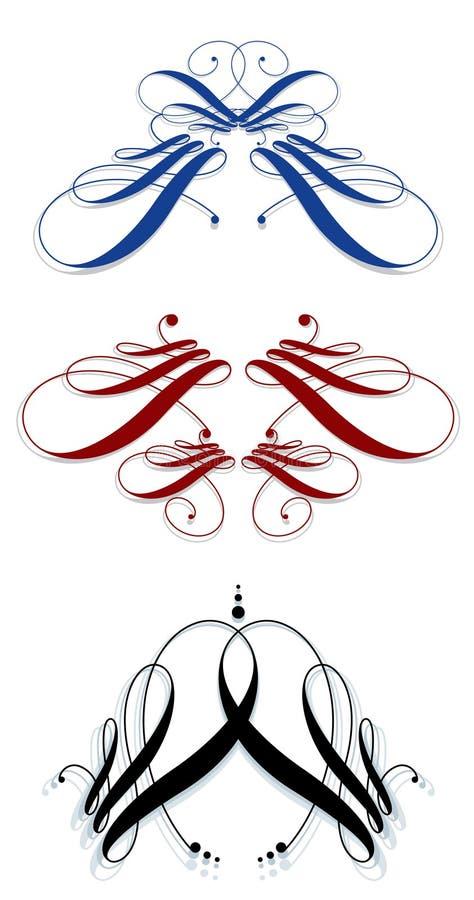 Svignettes calligraphiques illustration libre de droits