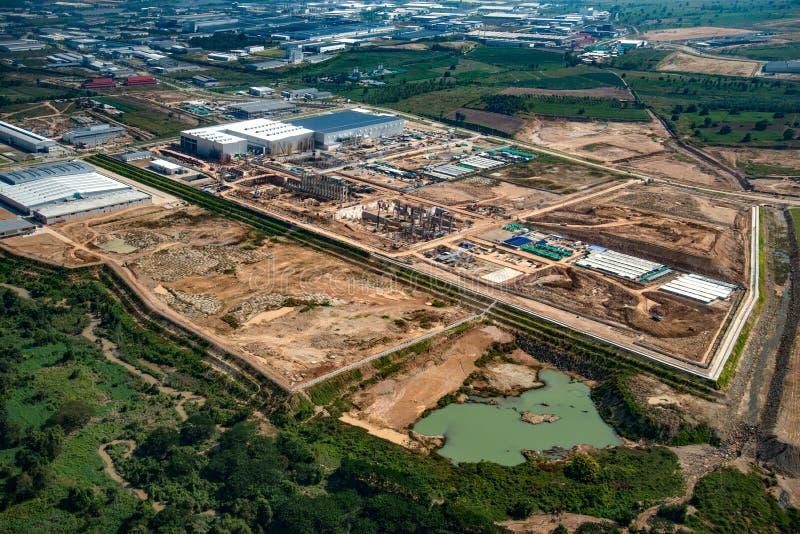 Sviluppo del territorio della zona industriale fotografia stock libera da diritti