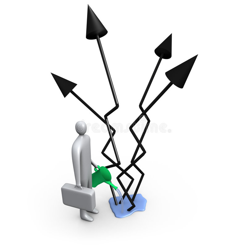 Sviluppo di affari illustrazione di stock