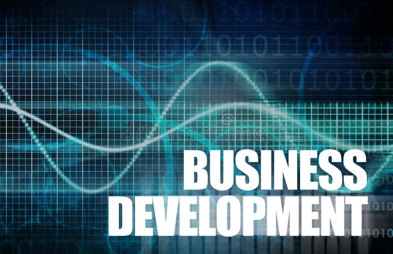 Sviluppo di affari illustrazione vettoriale