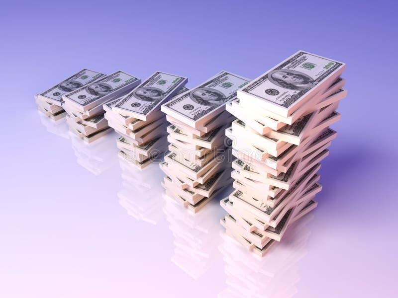 Sviluppo di profitto del dollaro illustrazione di stock
