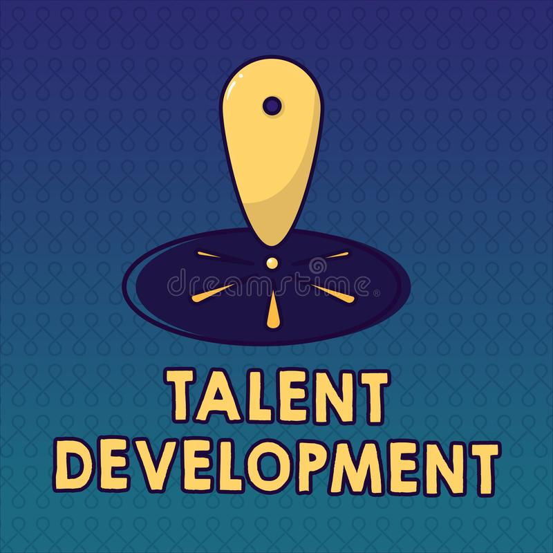 Sviluppo di talento del testo della scrittura Abilità di abilità della costruzione di significato di concetto che migliorano capo illustrazione di stock