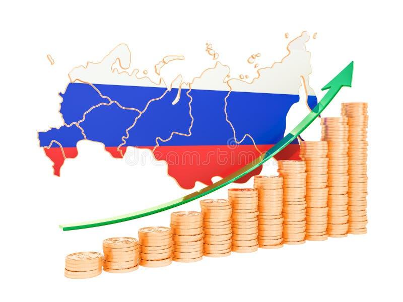 Sviluppo economico nel concetto della Russia, rappresentazione 3D royalty illustrazione gratis