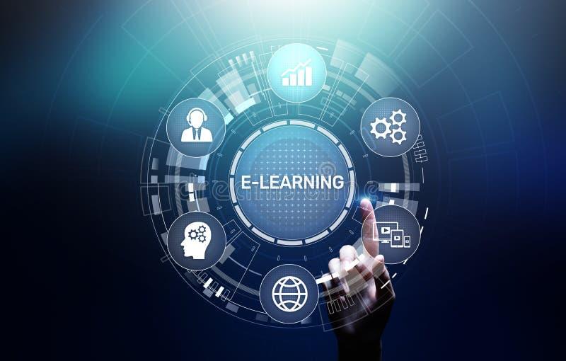 Sviluppo personale di istruzione di e-learning di addestramento di seminario online di Webinar e crescita professionale immagine stock libera da diritti