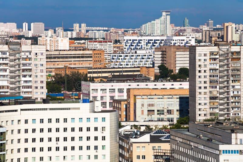 Sviluppo residenziale denso fotografie stock