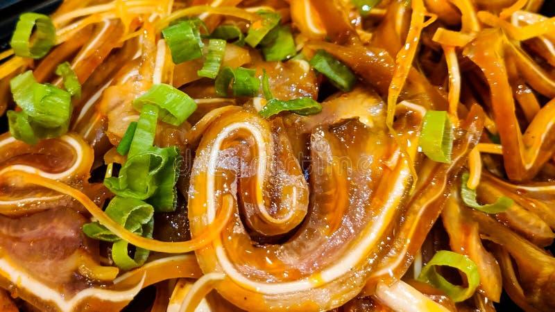 Svinörasallad av den Sichuan kokkonsten royaltyfria foton