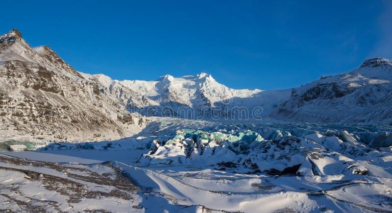 Svinafellsjokull-Gletscher, Skaftafell, Island stockfotos