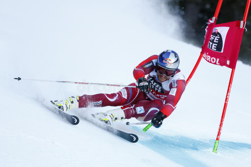 SVINDAL Aksel Lund dans la tasse Men's G d'Audi Fis Alpine Skiing World photos libres de droits