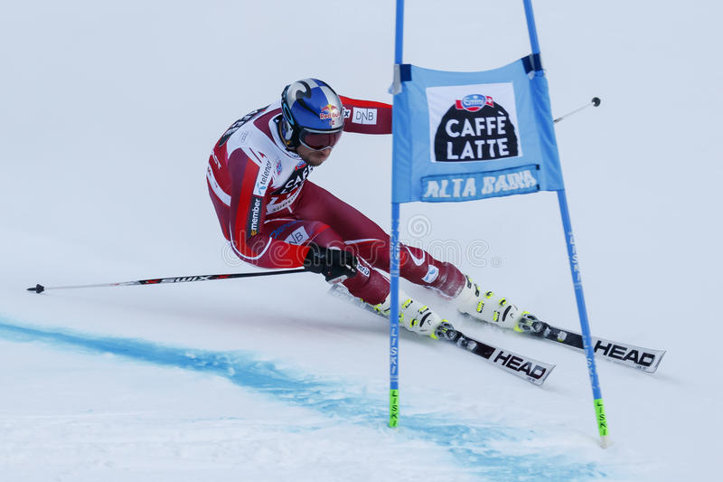 SVINDAL Aksel Lund dans la tasse Men's G d'Audi Fis Alpine Skiing World photographie stock