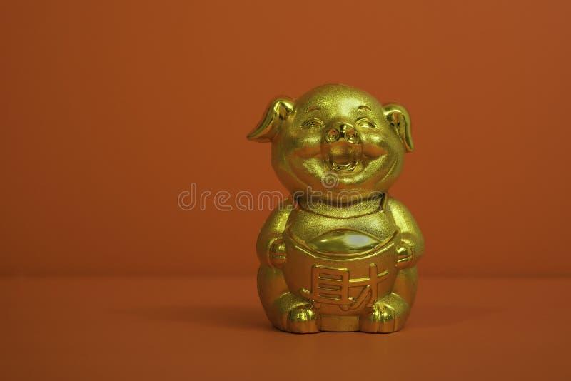 Svinmyntbank för kinesiskt nytt år royaltyfria foton