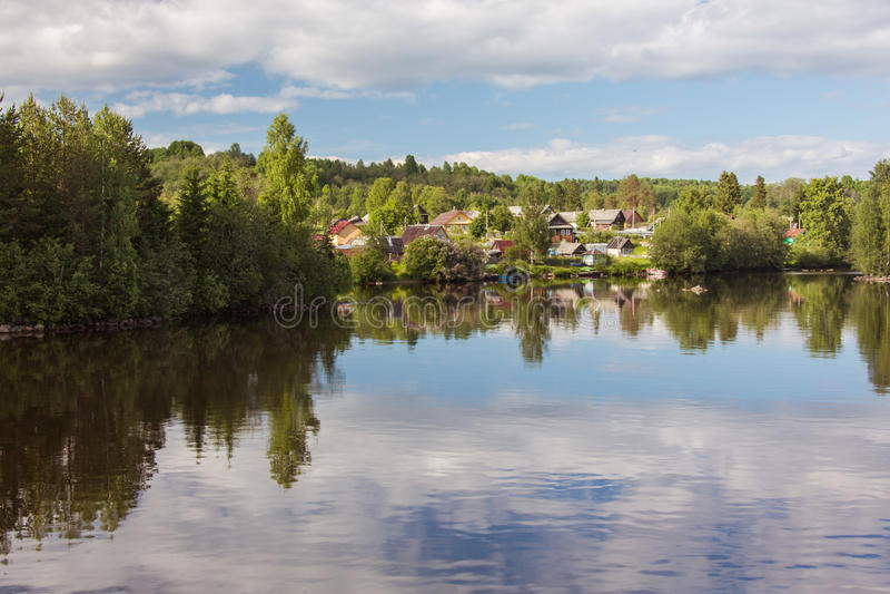 Svir River. Karelia. Russia. Svir River. Karelia. North of Russia stock photography