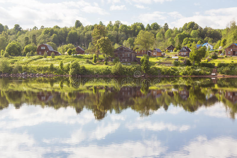 Svir River. Karelia. Russia. Svir River. Karelia. North of Russia stock photo