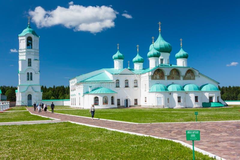 svirsky亚历山大的修道院 免版税库存照片