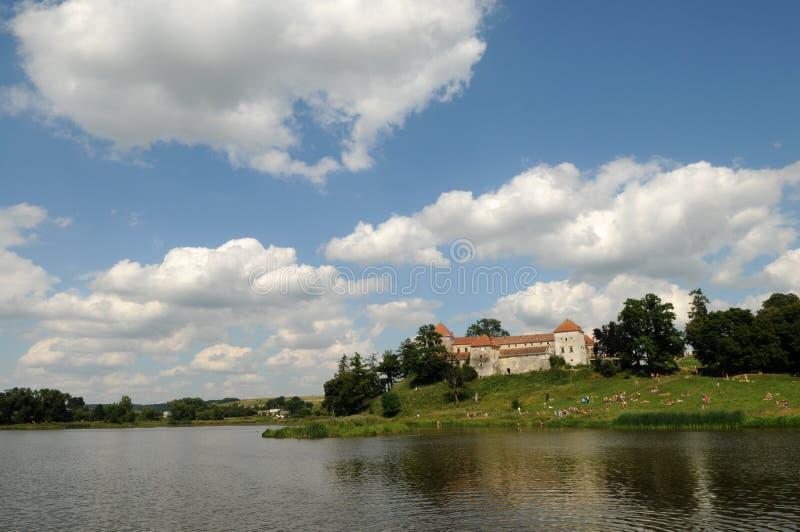 Svirzh-Schloss, Lemberg-Region, Ukraine stockbild