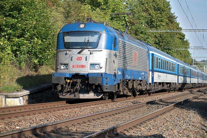 Svitavy, Czech Republic - 20 4 2019: Passenger Train On The