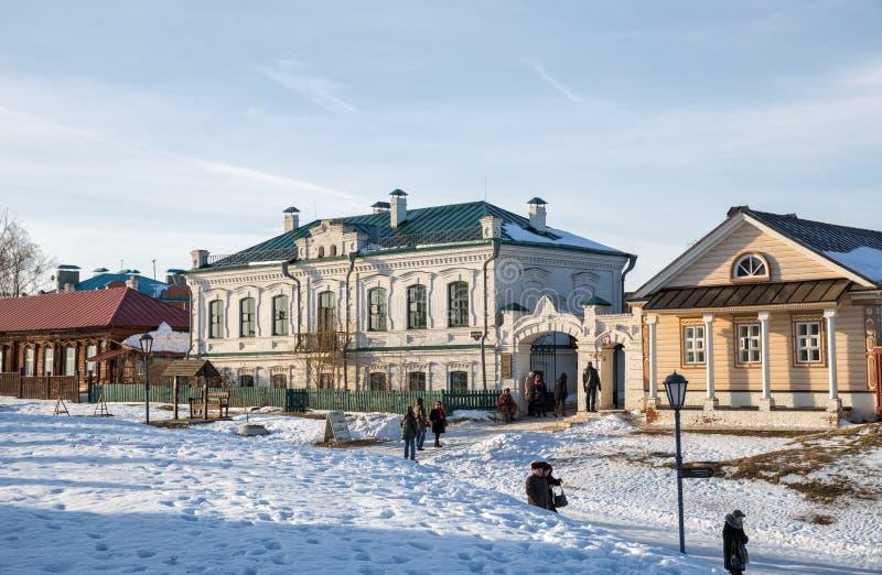 Sviyazhsk, жилые дома стоковые фотографии rf