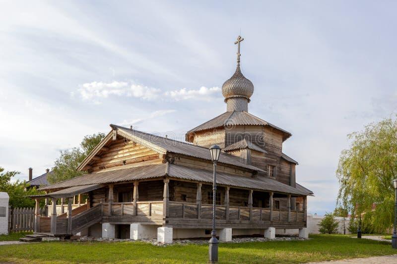 Sviyazhsk, Rosja, Czerwiec 04, 2018: Katedra w imię ikony matka bóg obraz stock
