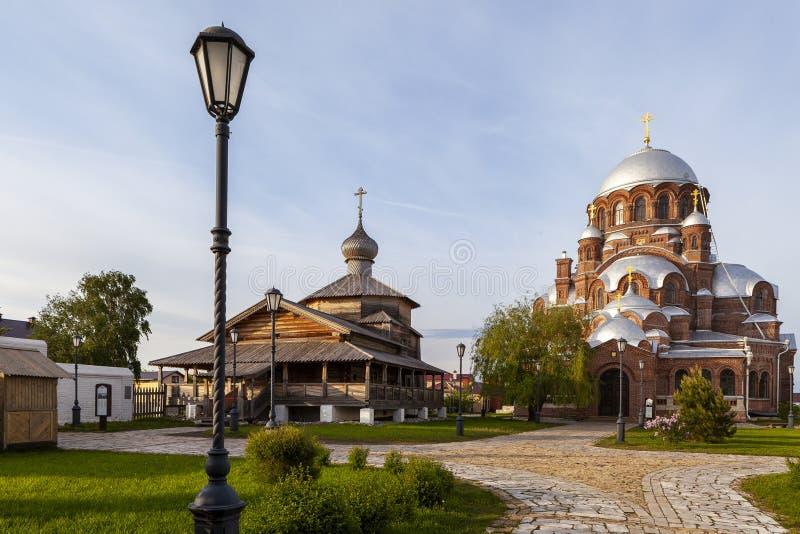 Sviyazhsk, Rosja, Czerwiec 04, 2018: Katedra w imię ikony matka bóg obrazy stock