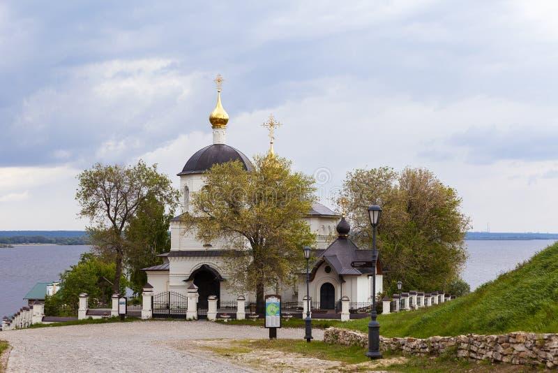 Sviyazhsk, Rosja, Czerwiec 04, 2018: Kościół święty Constantine i Helena obraz royalty free