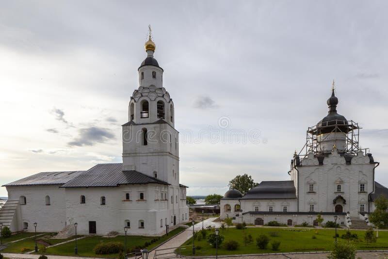 Sviyazhsk, Rosja, Czerwiec 04, 2018: Wniebowzięcie katedra w Sviyazhsk, republika Tatarstan obraz royalty free