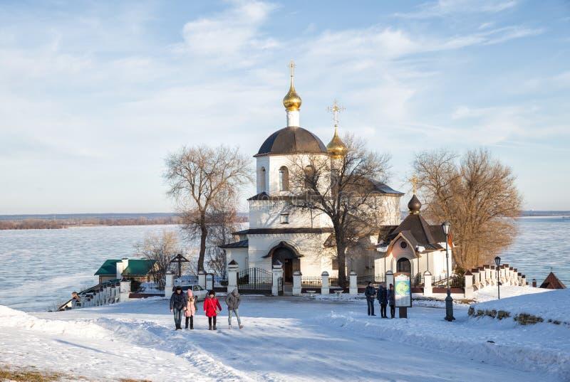 Church of Helena and Constantine. Sviyazhsk, Russia stock photos