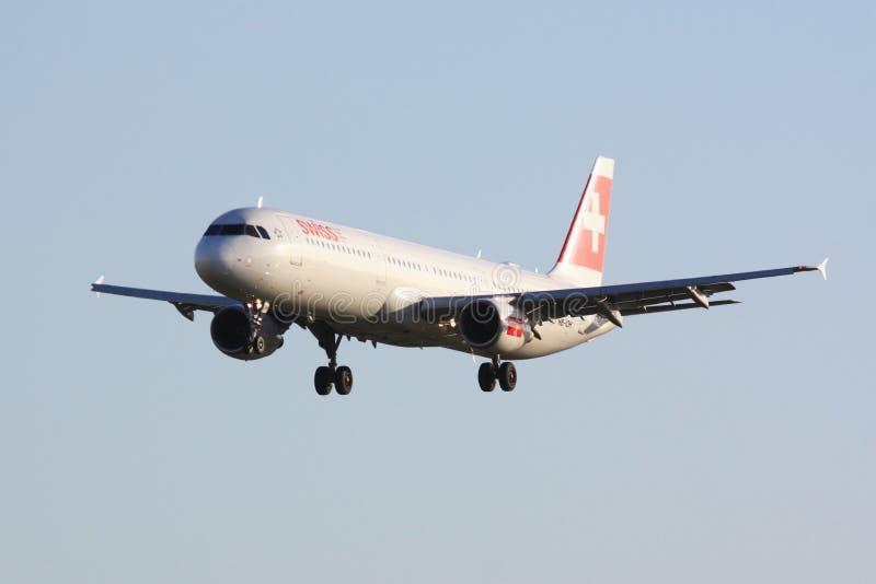 Svizzero Airbus A321 fotografia stock