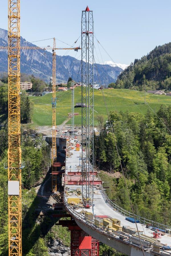svizzero della costruzione di ponti di tamina fotografia stock libera da diritti